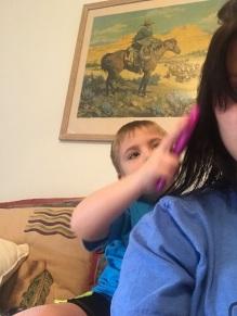 My baby boy is the biggest helper!
