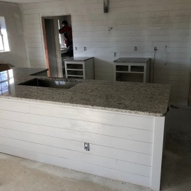 shiplap up in kitchen and counters